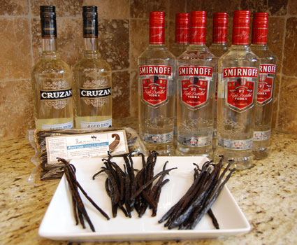 Making Vanilla Extract - Preparing Vanilla Beans